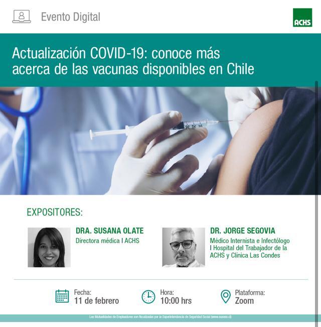Actualización COVID-19: conoce más acerca de las vacunas disponibles en Chile