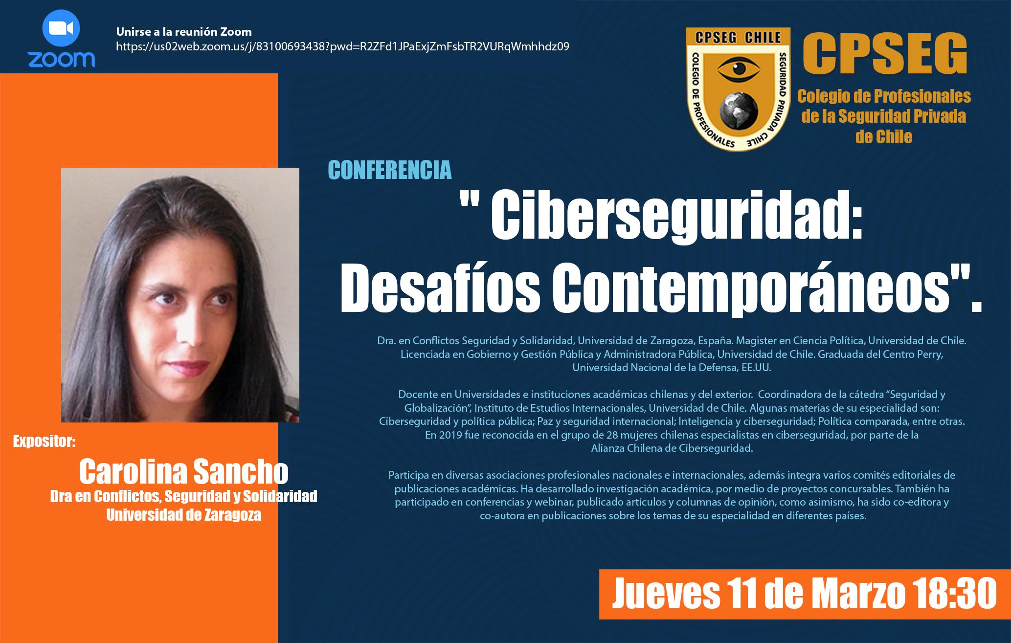 Charla de Ciberseguridad: Desafíos Contemporáneos